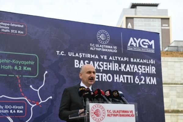 Bakanımız Sayın Adil Karaismailoğlu, Başakşehir- Çam ve Sakura Hastanesi-Kayaşehir Metro Hattı Şantiyesinde incelemelerde bulundu