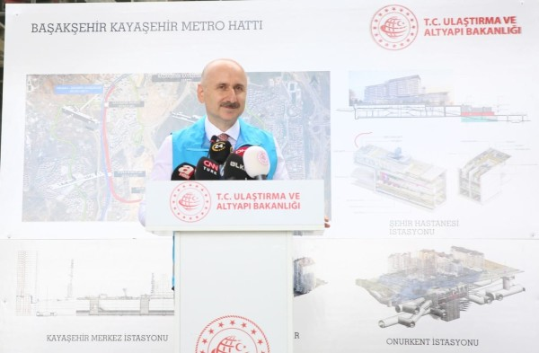 Başakşehir-Kayaşehir Metro Hattı 18 ay sonra hizmete girecek