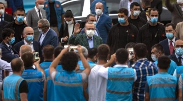 Cumhurbaşkanımız Sayın Recep Tayyip Erdoğan, Rize - Artvin Havalimanı İnşaatında İncelemelerde Bulundu