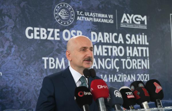 Gebze Osb-Darıca Sahil Metro Hattı Marmaray'a Bağlanacak