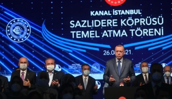 Kanal İstanbul Köprüsü'nün Temeli Atıldı