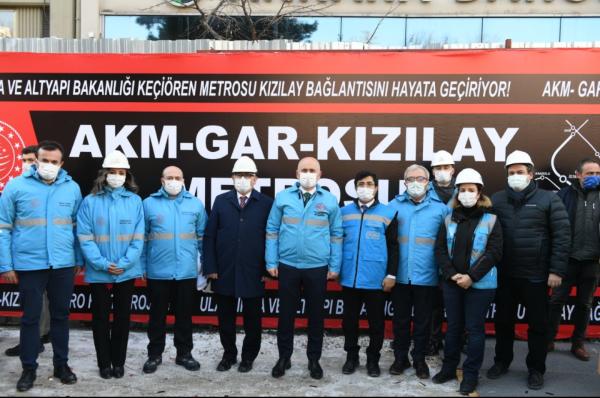 Keçiören'den Kızılay'a Aktarmasız Metro Ulaşımı Sağlanacak