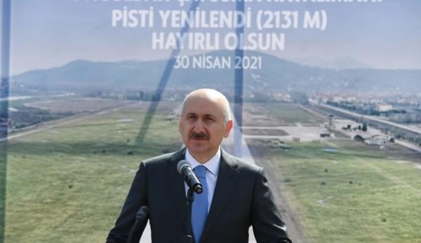 Pisti Yenilenen Zonguldak Çaycuma Havalimanı Açıldı