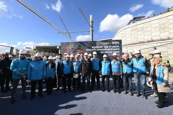 Ulaştırma Bakanımız Sayın Adil KARAİSMAİLOĞLU, Başakşehir-Kayaşehir Metro Hattı'nın İlk Ray Kaynağını Yaptı